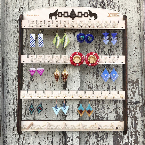 Wooden Earring Rack
