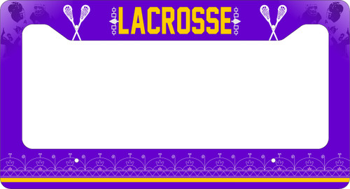 Lacrosse License Plate Frame