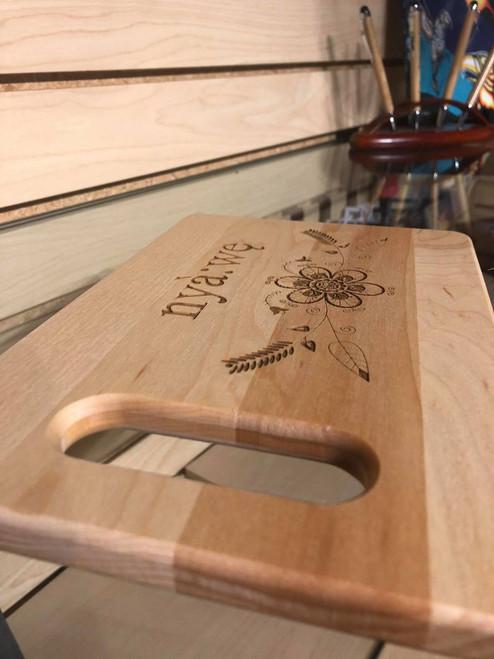 Nyà:wę (thank you) Cutting Board