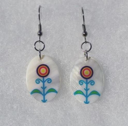 Celestial Tree Mother-of-Pearl Shell Earrings