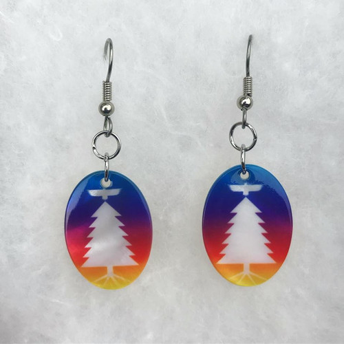 Tree of Peace Mother-of-Pearl Shell Earrings