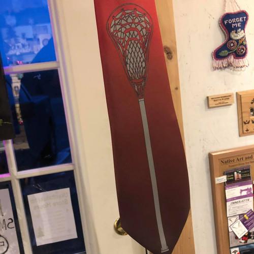 Maroon Fade Lacrosse Neck Tie