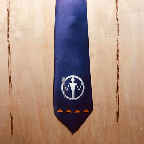 Wampum Man Lacrosse Neck Tie