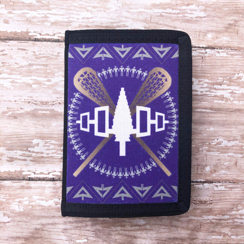 Lacrosse Tri-Fold Nylon Wallet