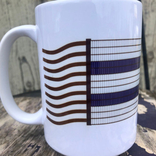 15 oz. Ceramic Two Row Wampum Belt Mug