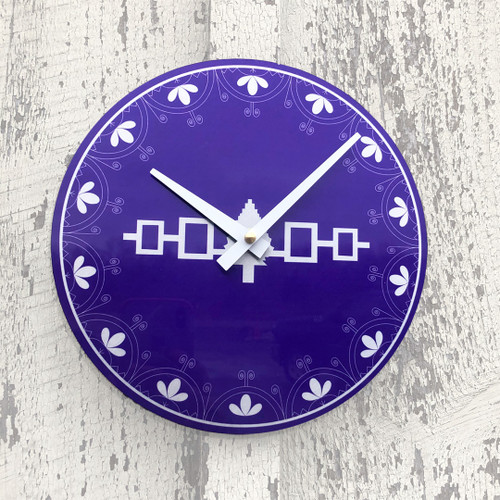 "Hiawatha Belt 8"" Aluminum Wall Clock"