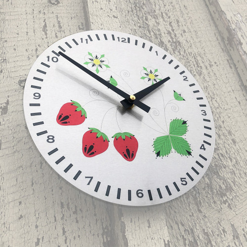 "Strawberry 8"" Aluminum Wall Clock"