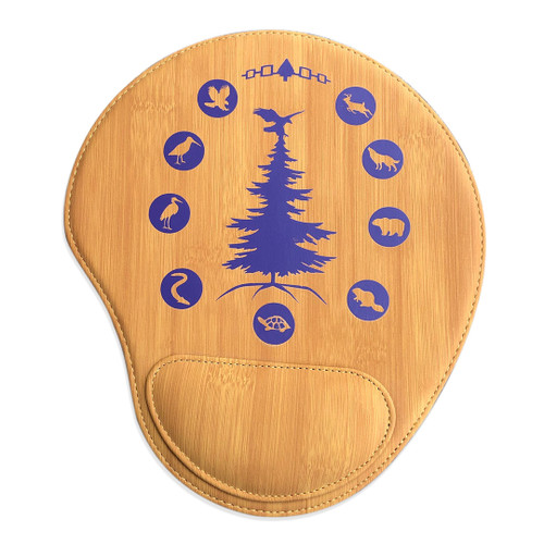 Tree of Peace Bamboo Leatherette Mouse Pad
