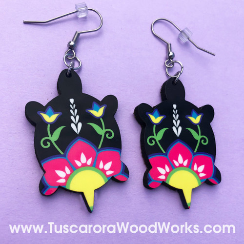Tuscarora Turtle Flower Earrings