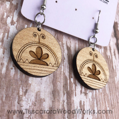 Cherry Wood Skydome Earrings