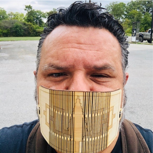 Wooden Face Mask