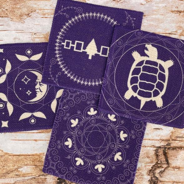 4-Piece Linen Coaster Set