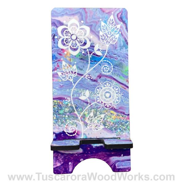 Tuscarora Floral Phone Stand - Purple