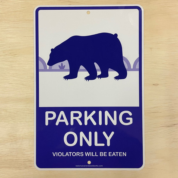 Metal Bear Parking Sign