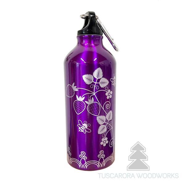 Strawberry Aluminum Water Bottle 16 oz.