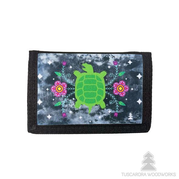 Turtle Trifold Nylon Wallet