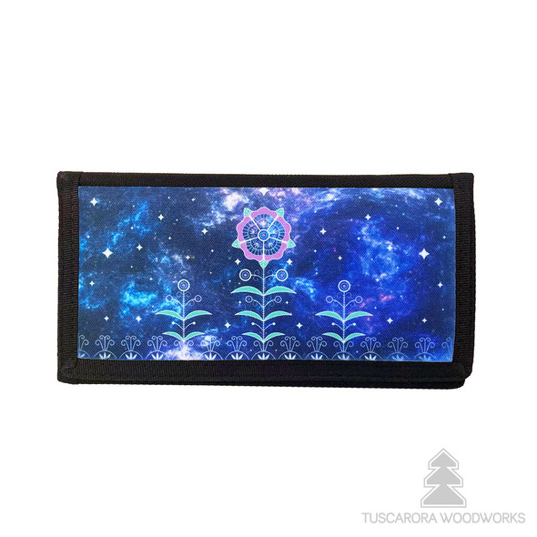 Celestial World Nylon Checkbook Wallet