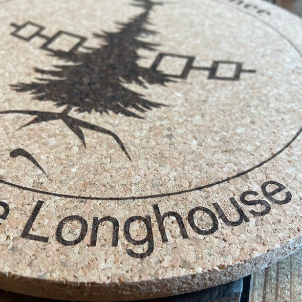 """9"""" People of the Longhouse Cork Trivet/Hot Plate"""