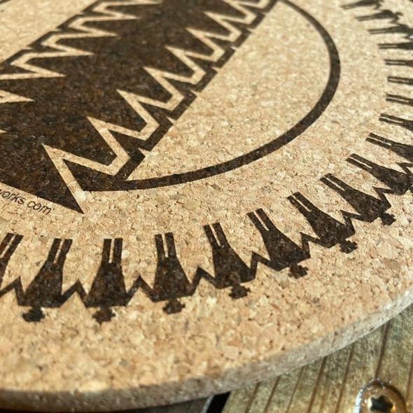"""9"""" Dust Fan Cork Trivet/Hot Plate"""