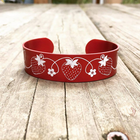 Strawberry Metal Cuff