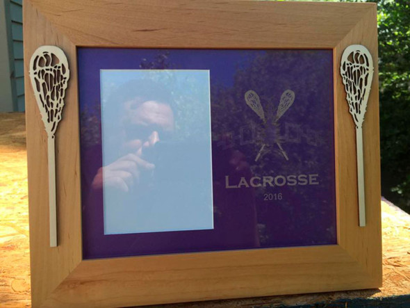"8"" X 10"" Haudenosaunee Lacrosse Frame with 2 Sticks"