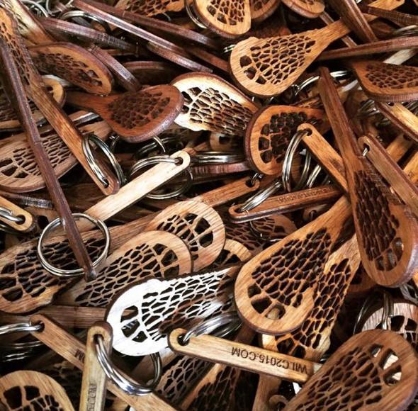 Custom Engraved Mini Lacrosse Stick Key Chain