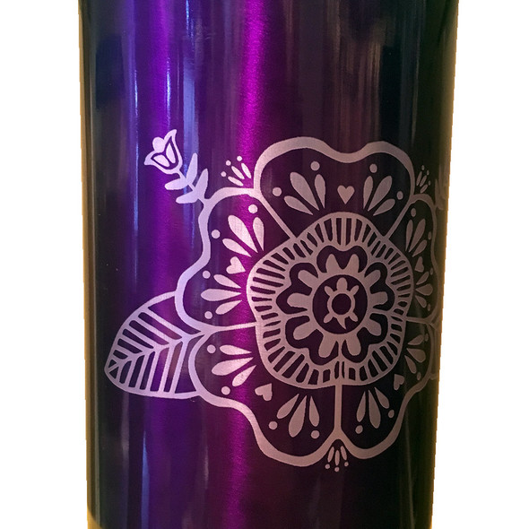 Tuscarora Turtle Flower 16oz Purple Insulated Tumbler