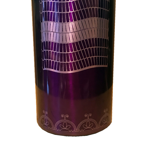 Two Row 16oz Purple Insulated Tumbler