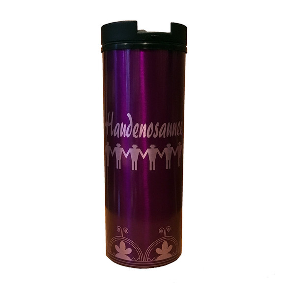 Haudenosaunee 16oz Purple Insulated Tumbler
