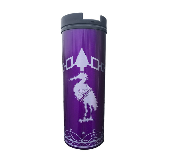 Clan with Hiawatha Belt 16oz Purple Insulated Tumbler
