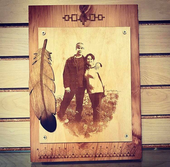 Wooden Memorial Photo Plaque