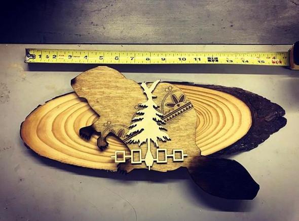 Wooden Beaver Plaque