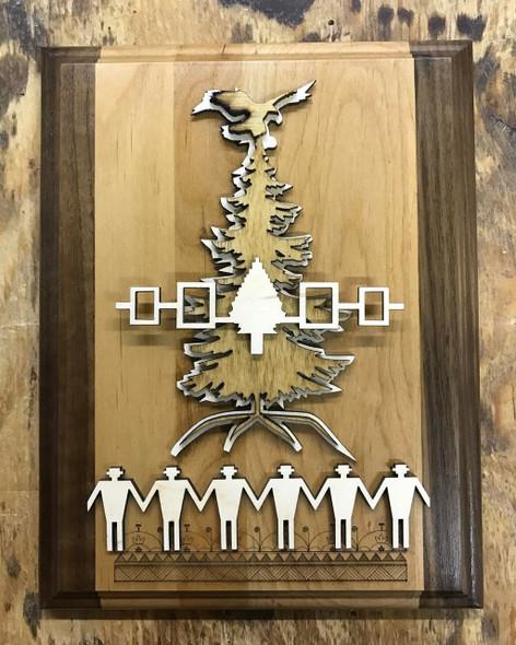 "7"" X 9"" Haudenosaunee Tree of Peace Plaque"
