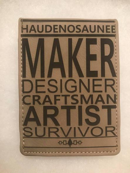 Haudenosaunee Maker Leatherette Notebook