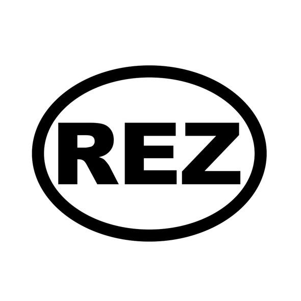 """5"""" Vinyl REZ Decal"""