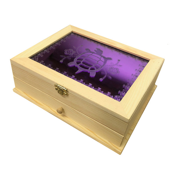 Wooden Jewelry Box with Clan Engraving