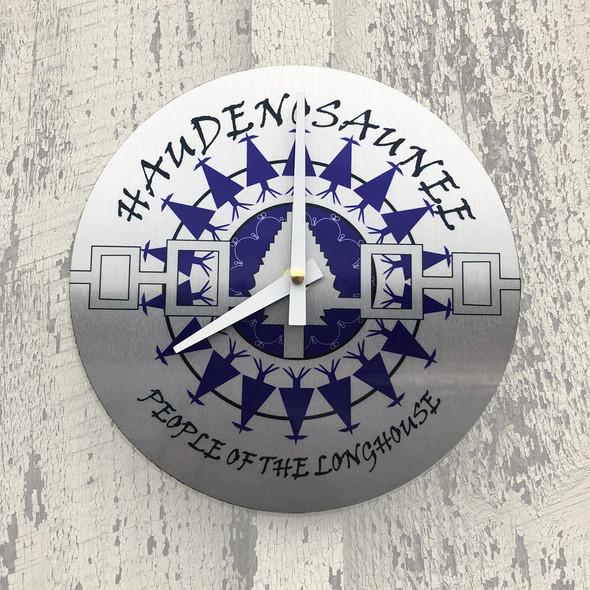 """Haudenosaunee 8"""" Aluminum Wall Clock"""