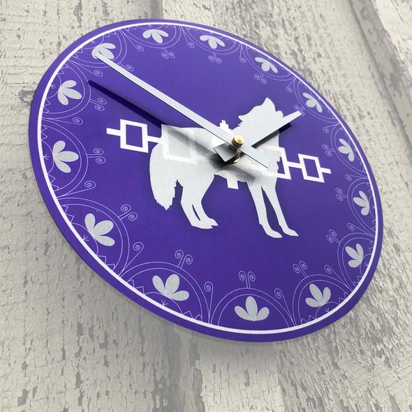 """Clan 8"""" Aluminum Wall Clock"""