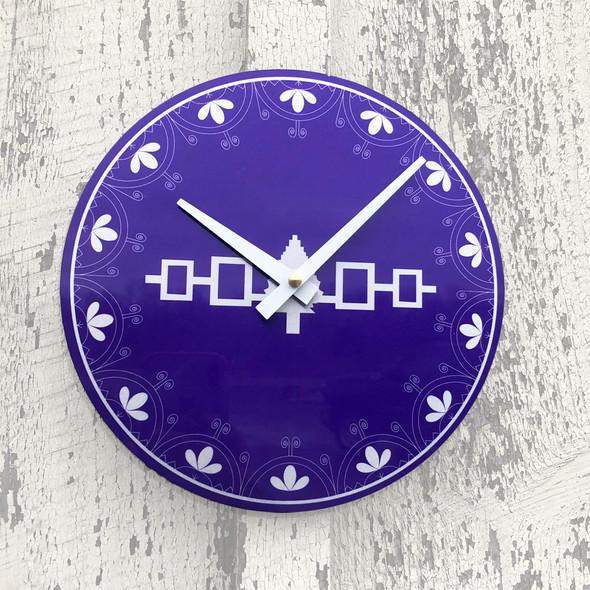"""Hiawatha Belt 8"""" Aluminum Wall Clock"""