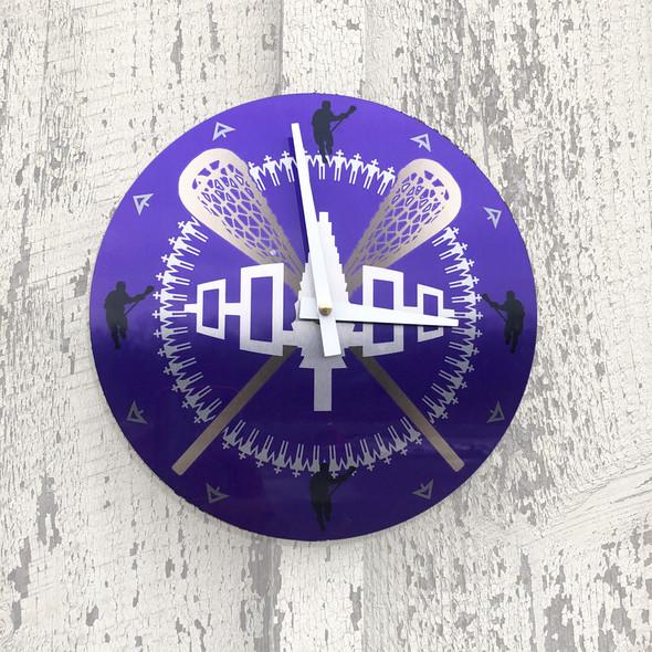 """Lacrosse 8"""" Aluminum Wall Clock"""