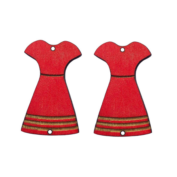 Red Dress Wooden Centers