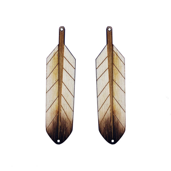 Wooden Feather Centers