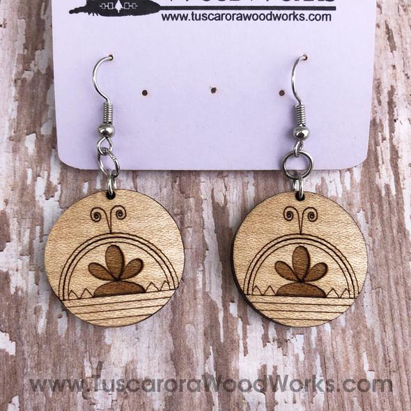 Cherry Wood Skydome Earrings