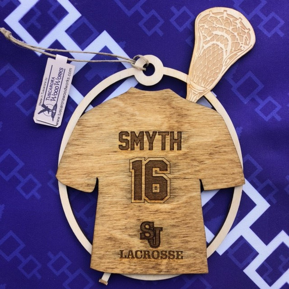 Customized Lacrosse Ornament