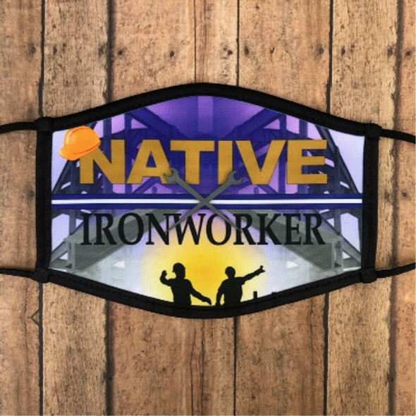 Large Native Iron Worker Face Mask