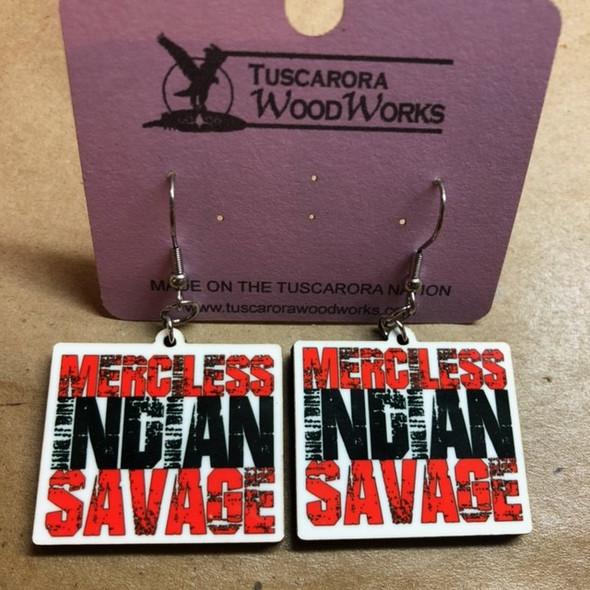 Merciless Indian Savage Earrings