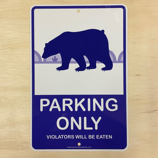 Metal Bear Parking Sign