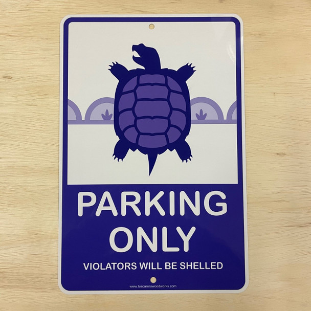 Metal Turtle Parking Sign