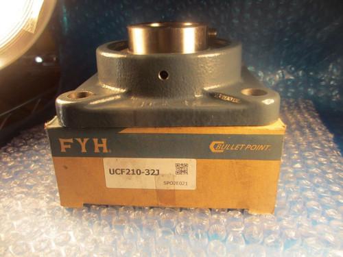"FYH UCF210-32J,Quality Japanese 2"" Flange Unit(=2 NTN, PEER, AMI)Insert=UC210-32"