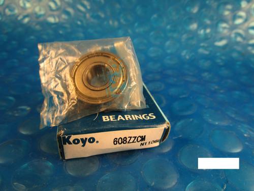 KOYO 608 ZZ CM, 2Z,Single Row Radial Bearing(=2 MRC 38FF, SKF, NTN, FAG 2ZR,NSK)